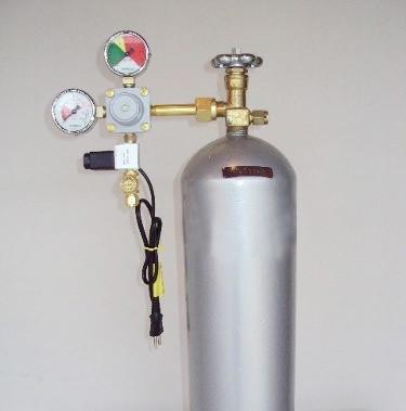 Kit Co2 4Kg Atlântida Aquários - com regulador e válvula solenóide