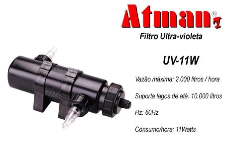 Filtro UV 11 W Atman