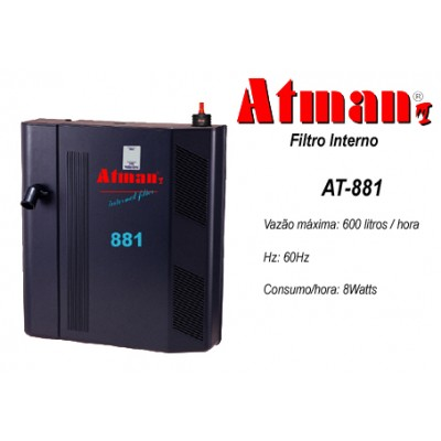Filtro Interno Atman AT-881 - 600 L/H