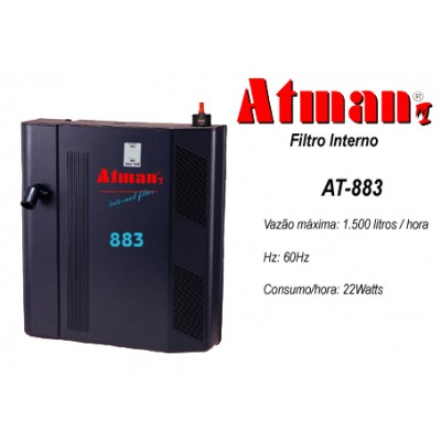 Filtro Interno Atman AT-883 - 1500 L/H